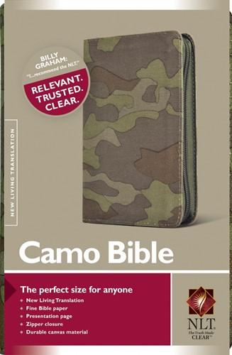 NLT camo bible with zip (Boek)