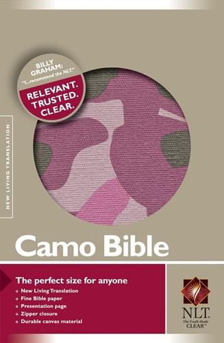 NLT camo compact bible pink (Boek)