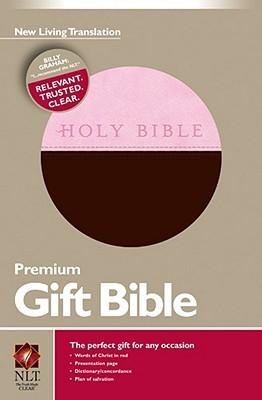 NLT Gift bible leather like pink brown (Boek)