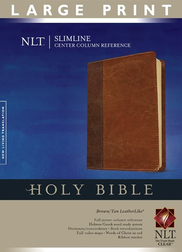 NLT - Sliml. Ref. Bible - Index Brown Ta (Boek)
