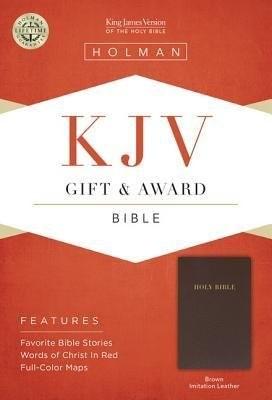 KJV gift & award bible dark brown imitat (Boek)