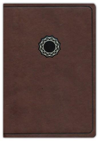 KJV deluxe gift bible brown/tan leathert (Boek)