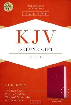 KJV deluxe gift bible pink leathertouch (Boek)