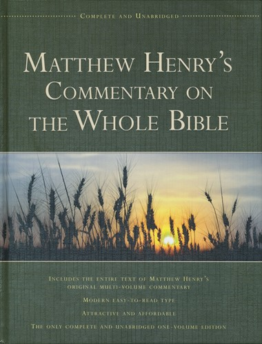 Matthew henrys commentary on the bible (Hardcover)