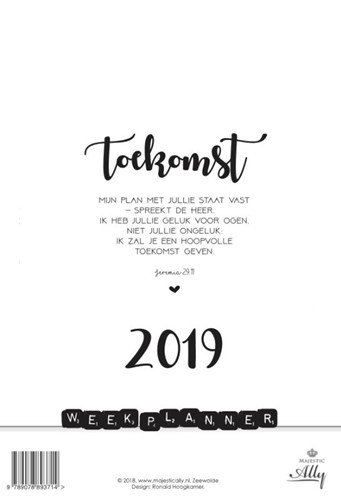 Weekplanner Words and Letters 2019 (Kalender)