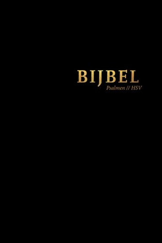Bijbel (HSV) met Psalmen - zwart leer met goudsnee, rits en duimg (Hardcover)