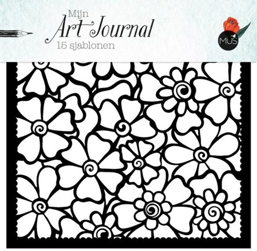 Mijn art journal 15 sjablonen (Losse bladen/Geniet)