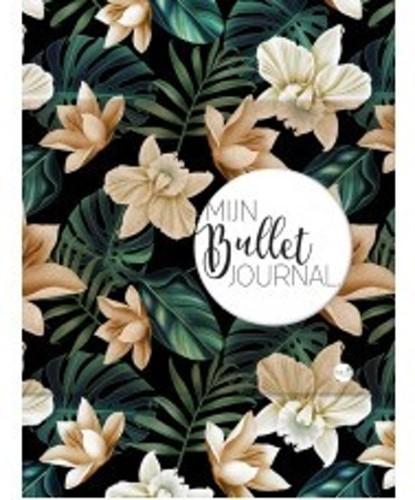 Mijn bullet journal black flower (Hardcover)
