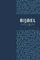 Bijbel (HSV) met psalmen - vivella blauw, zilversnee, duimgrepen