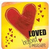 Onderzetter: Loved beyond measure (Cadeauproducten)