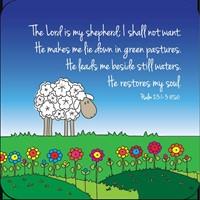 Onderzetter: Psalm 23 (Cadeauproducten)