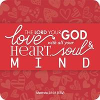 Onderzetter: Love God (Cadeauproducten)