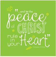 Onderzetter: Peace of Christ (Cadeauproducten)
