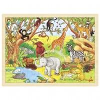 Puzzel Dieren in Afrika - 48 stukjes (Hout)