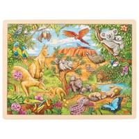 Puzzel Australische dieren, 96st (Hout)