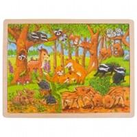 Puzzel Babydieren in het Bos - 48 stukjes (Hout)