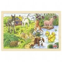 Puzzel Babydieren II - 24 stukjes (Hout)