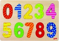 Inlegpuzzel: Cijfers 1-10 (Hout)