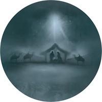 Muurcirkel Kerst Groen 25 cm - Stal van Bethlehem (Cadeauproducten)