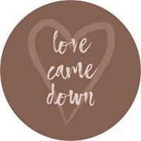 Muurcirkel Kerst Bruin 25 cm - Love came down (Cadeauproducten)