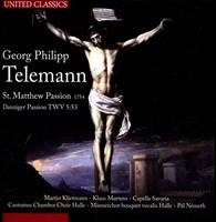 St. Matthew Passion (Telemann / 1754) (CD)