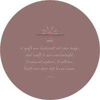 Muurcirkel Bruinroze 25 cm - U geeft een toekomst vol van hoop (Cadeauproducten)