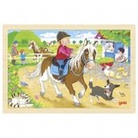 Puzzel Pony Boerderij - 24 stukjes (Hout)