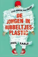 De jongen in bubbeltjes plastic