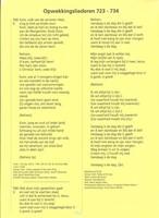 Tekstaanvulling ongeperforeerd nummers 723-734 (Losse bladen/Geniet)