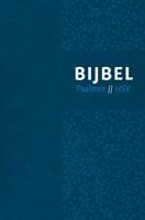 Bijbel (HSV) met Psalmen - vivella blauw zilversnee (Hardcover)