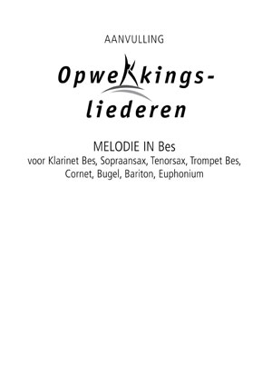 Opwekking muziekboek 820-831 in Bes