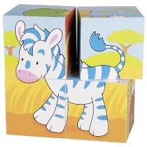 Blokpuzzel 4 stukjes Dieren