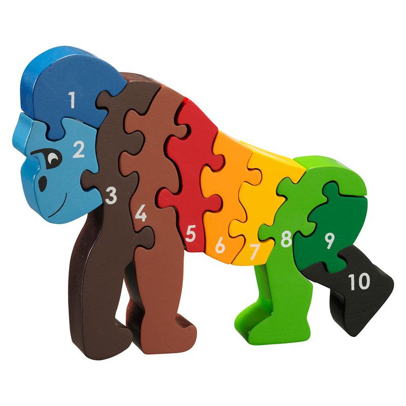 Puzzel Gorilla, 1-10
