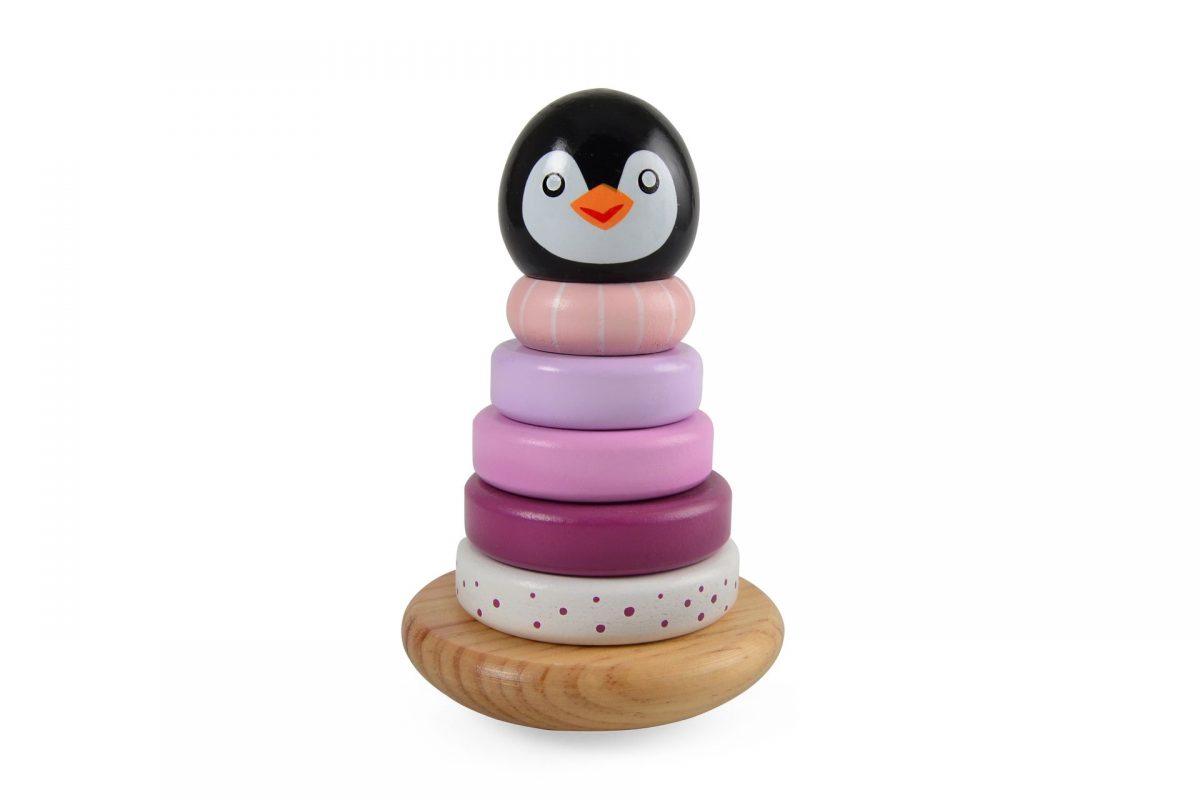 Pinguin Stapeltoren Roze