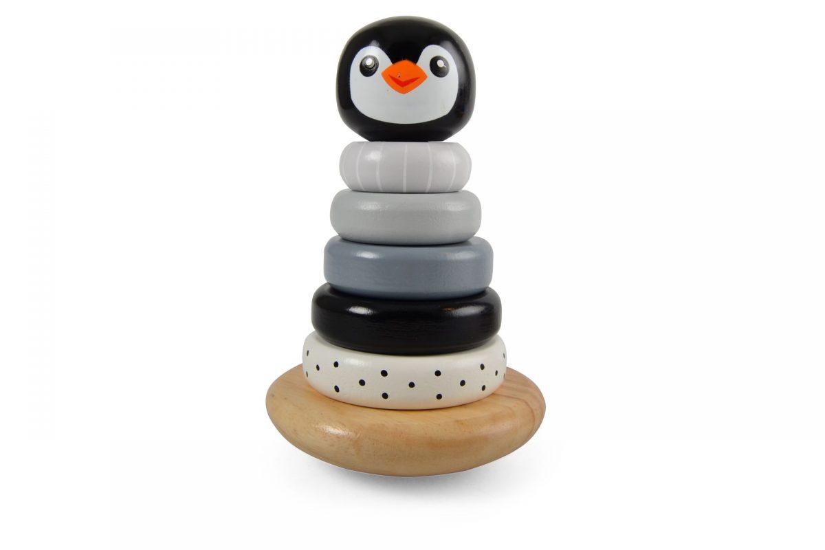 Pinguin Stapeltoren Zwart-Grijs