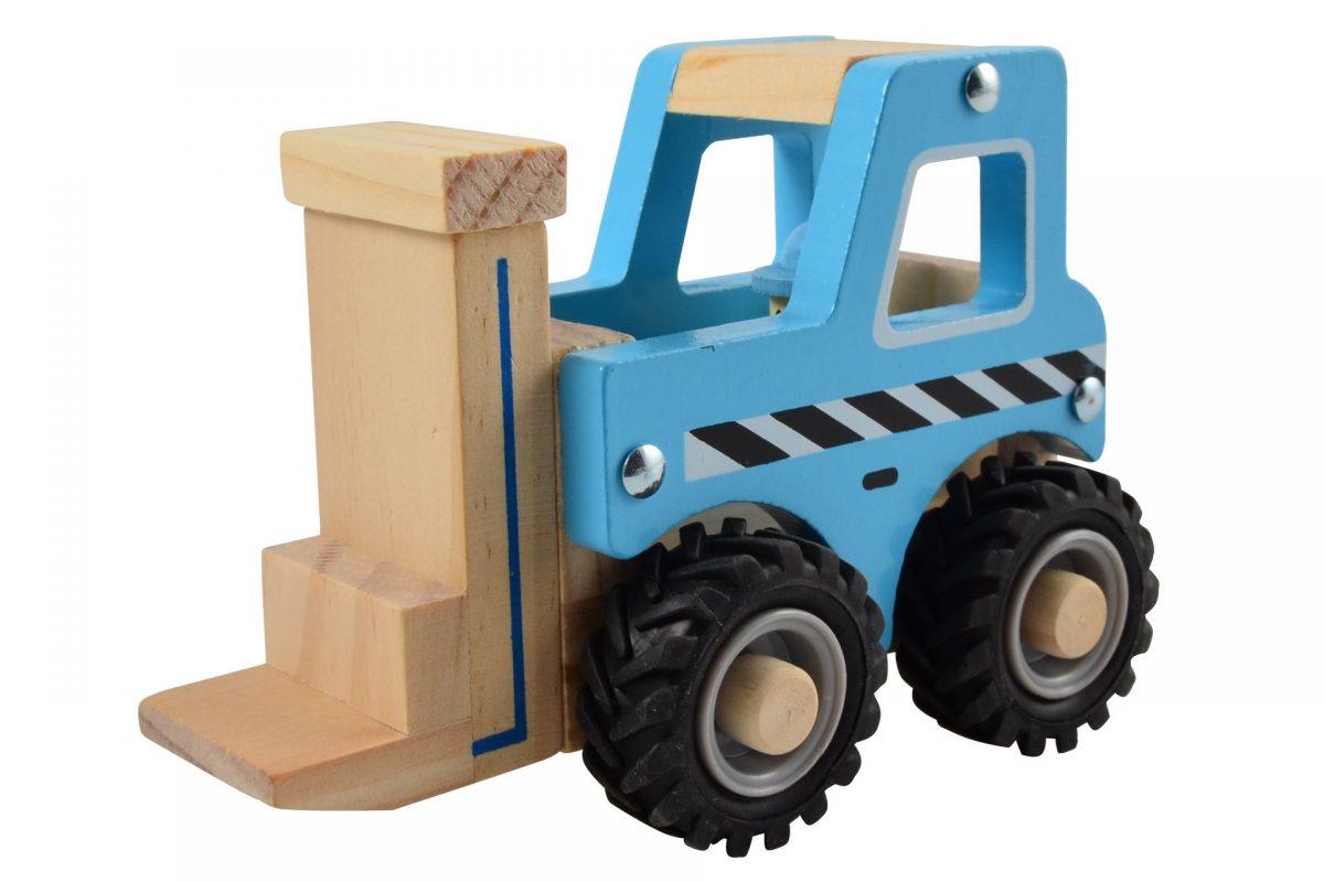 Houten Heftruck met rubberen wielen