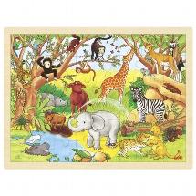 Puzzel Dieren in Afrika - 48 stukjes