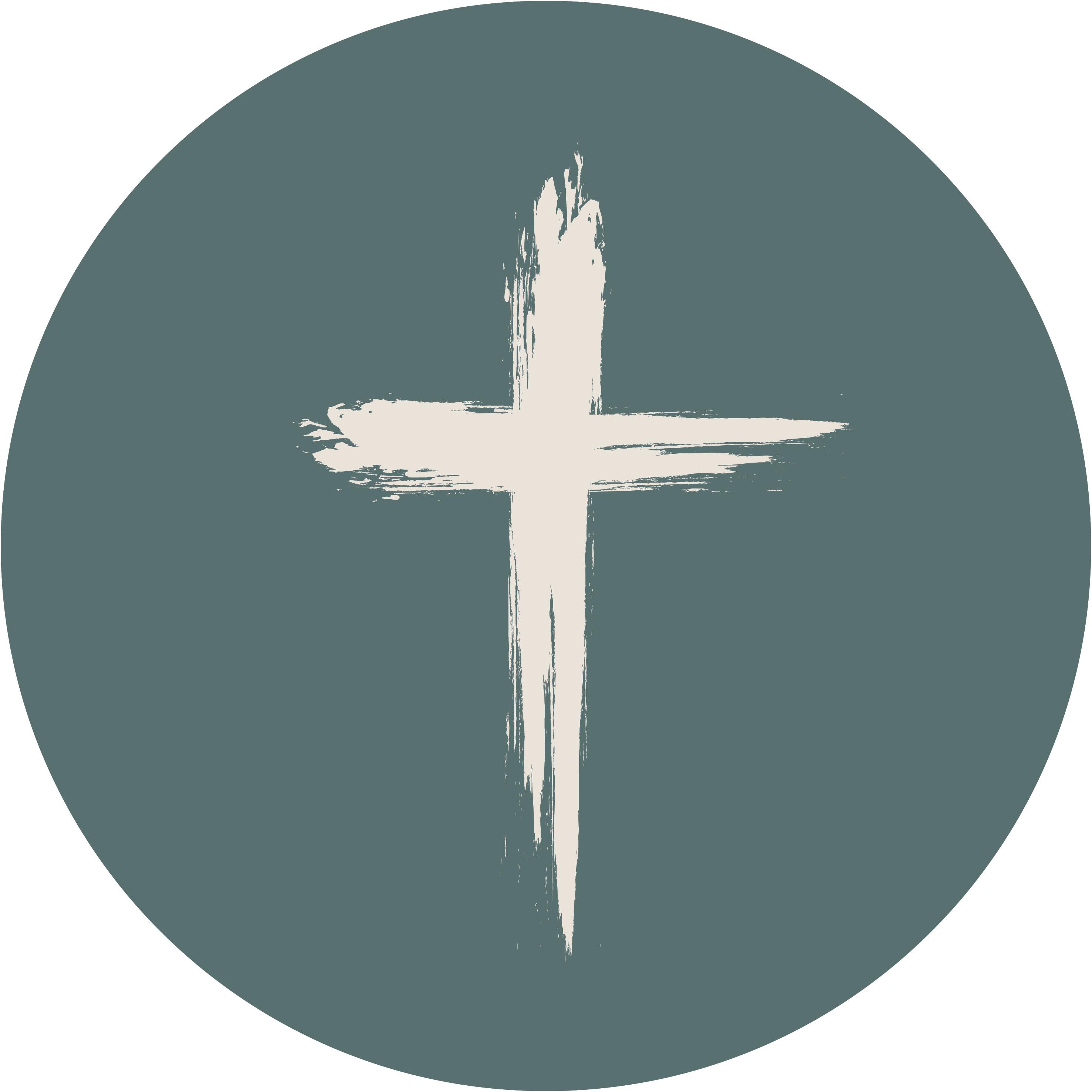 Muurcirkel Groen 25 cm - Kruis