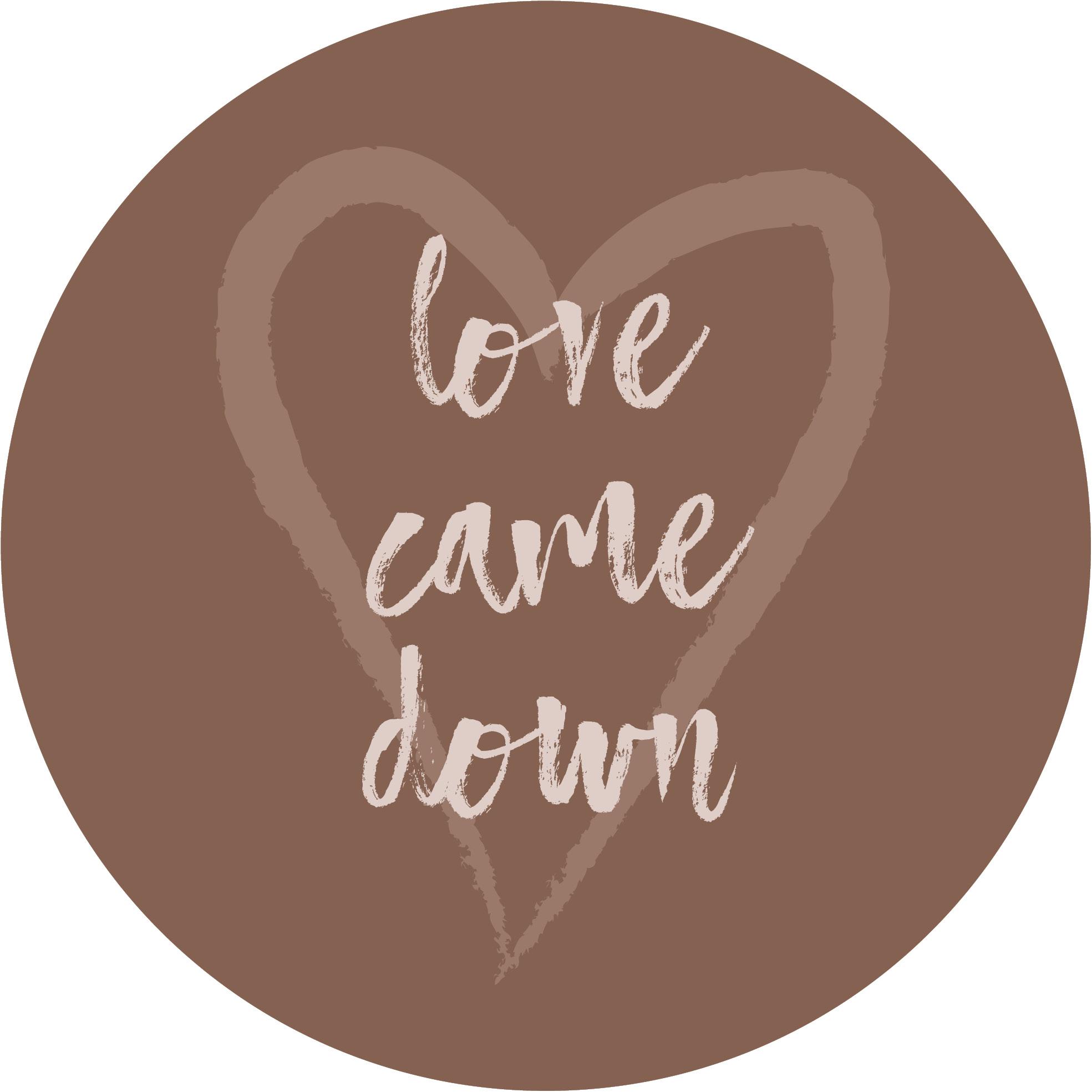 Muurcirkel Kerst Bruin 25 cm - Love came down