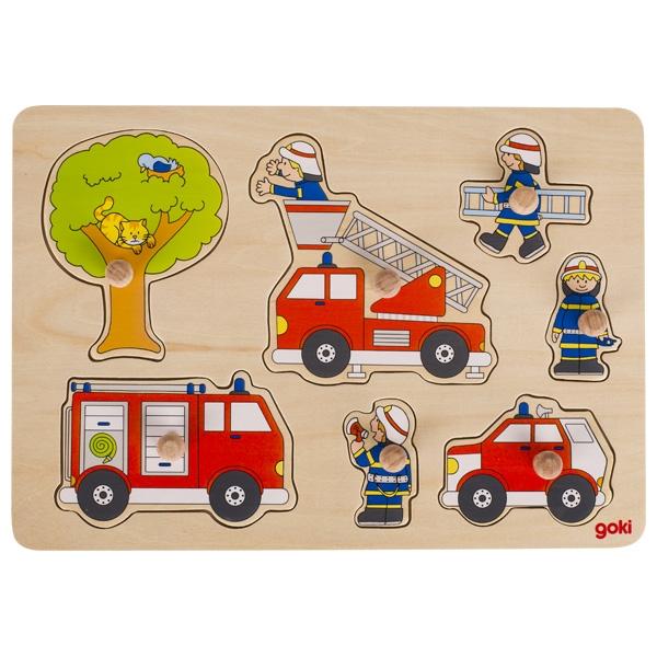 Inlegpuzzel: Brandweer in actie