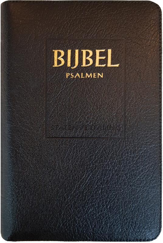 Bijbel (SV) met psalmen (ritmisch) - met goudsnee, rits en duimgr