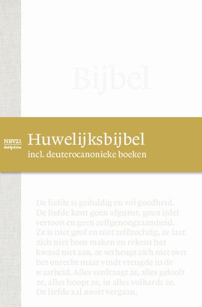 NBV21 Huwelijksbijbel incl. deuterocanonieke boeken