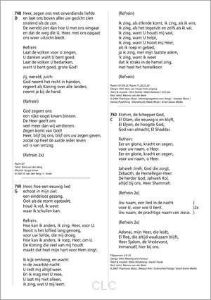 Opwekkingsliederen Tekstaanvulling 45 (Grootletter/A4)