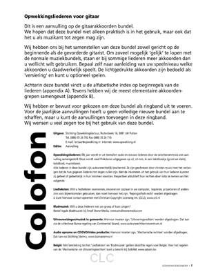 Opwekkingsliederen Gitaarakkoorden aanvulling 45 (A4)