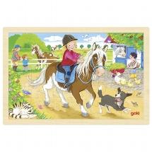 Puzzel Pony Boerderij - 24 stukjes