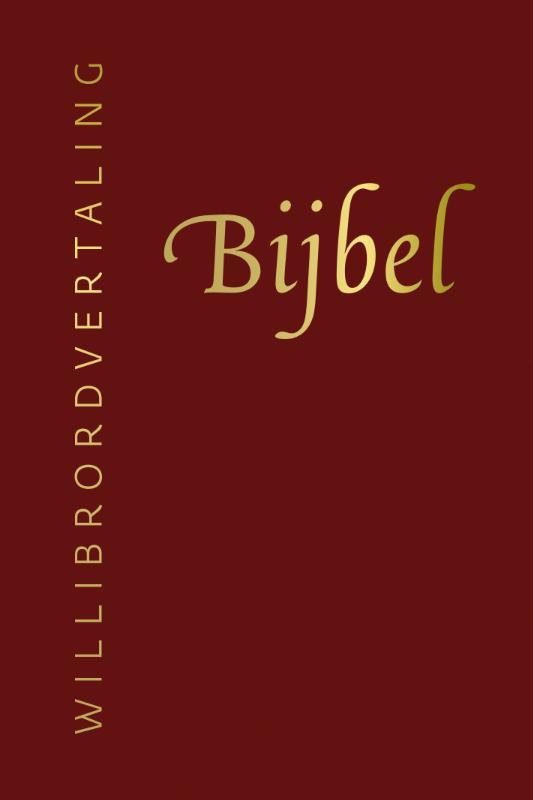 Bijbel (Willibrordvertaling) in leer met goudsnee, rits en koker
